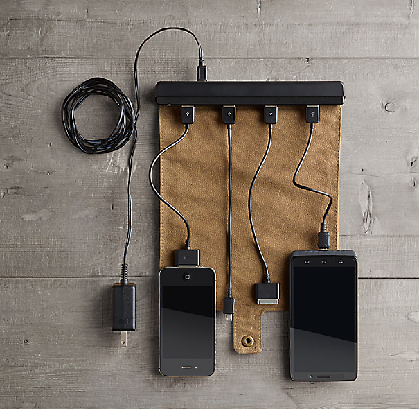 Roll-Up Travel Charger - Taupe