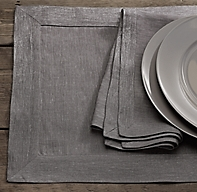 Belgian Linen Metallic Placemat (Set of 4)