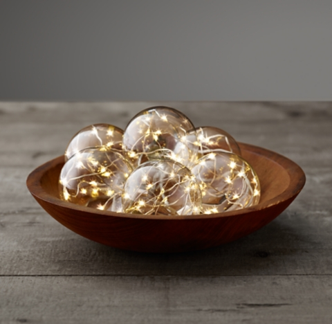 Glass Globe String Lights Restoration Hardware : Starry Glass Globe String Lights - Diamond Lights On Silver Wire