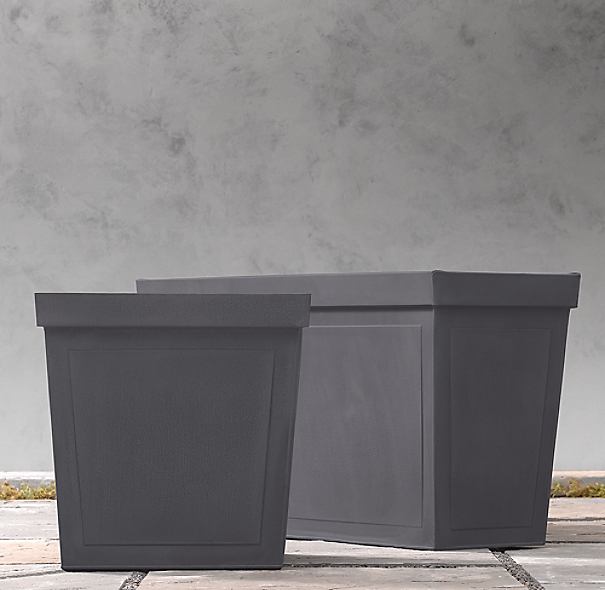 Paneled Sheet Metal Cube Planters