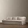 8' Belgian Classic Roll Arm Slipcovered Sofa