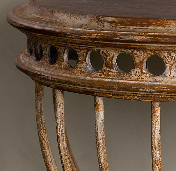 Cast Iron Demilune Console Table
