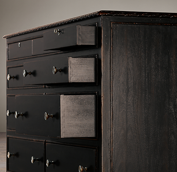 French Empire 11-Drawer Dresser