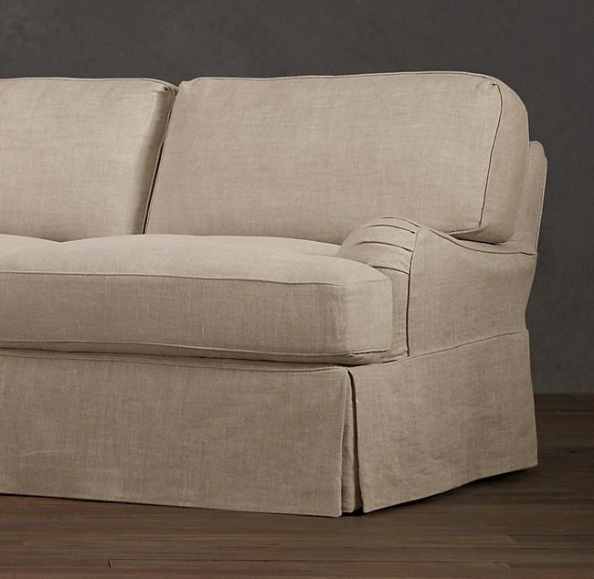 English Roll Arm Slipcovered Sofa