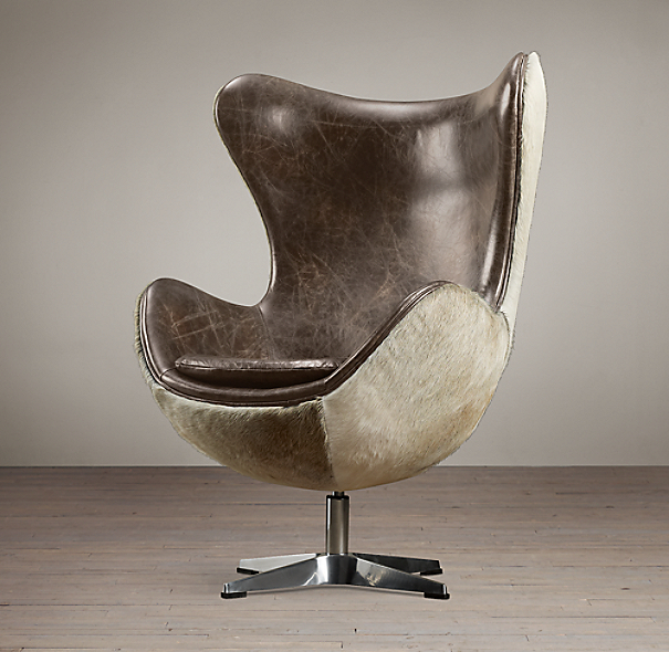 1950s Copenhagen Chair Hair-on-Hide Back