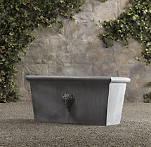 Estate Zinc Selene Tapered Trough Planter