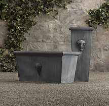 Estate Zinc Selene Tapered Tall Planter