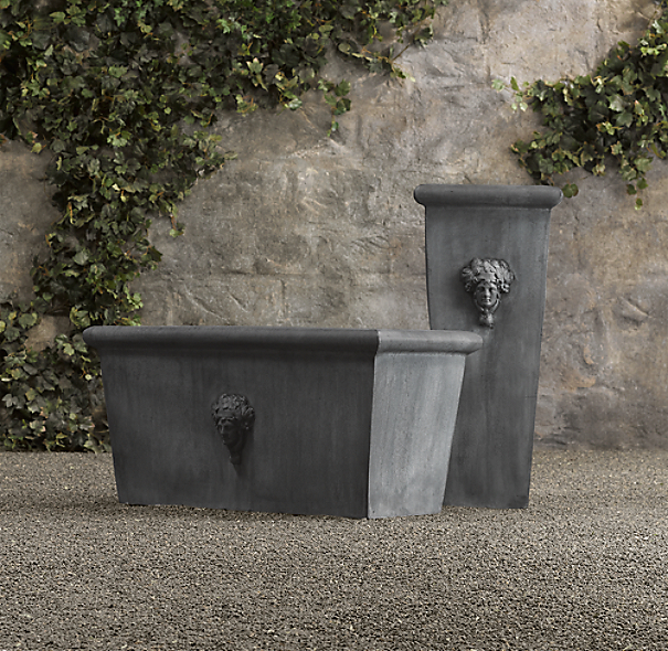 Estate Zinc Selene Tapered Planters