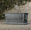 Estate Zinc Paneled Trough Planter