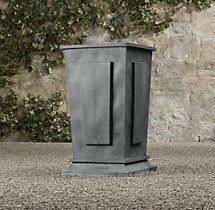 Estate Zinc Paneled Tall Planter