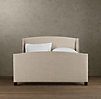 "Warner Nailhead Upholstered 54"" Bed With Footboard"