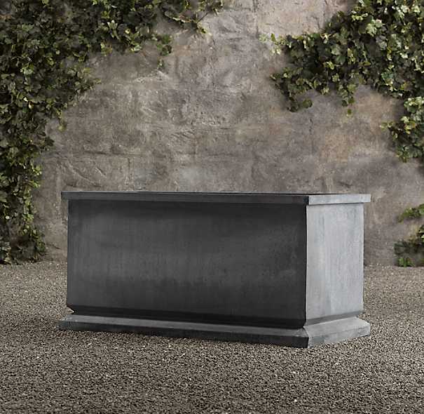 Estate Zinc Footed Trough Planter