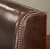 "Warner Nailhead Leather 54"" Bed with Footboard"