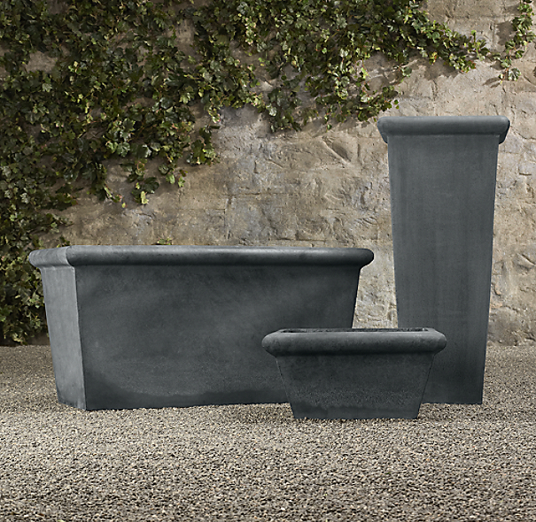 Estate Zinc Tapered Planters