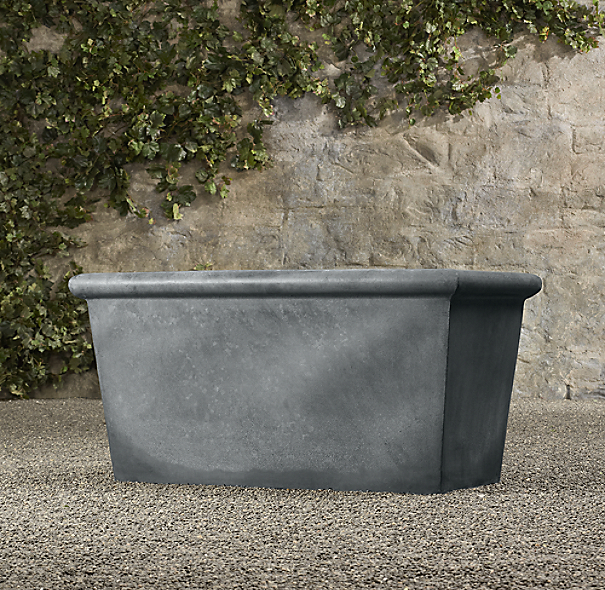 Estate Zinc Tapered Trough Planter