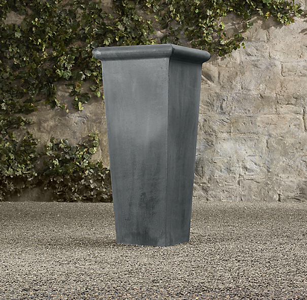 Estate Zinc Tapered Tall Planter