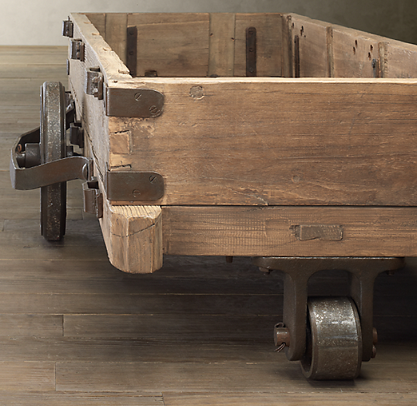 19th C. Cotton Trolley Table