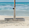 Stainless Steel Umbrella Stand Square with Wheels