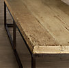 Reclaimed French Floorboard Coffee Table Large Narrow