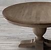 "60"" French Urn Pedestal Dining Table Black"
