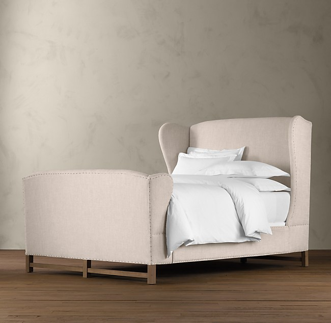 French Wing Upholstered Bed