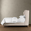 French Wing Upholstered Bed Without Footboard