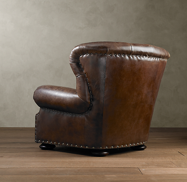 Churchill Leather Chair with Nailheads
