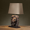Lion's Head Table Lamp