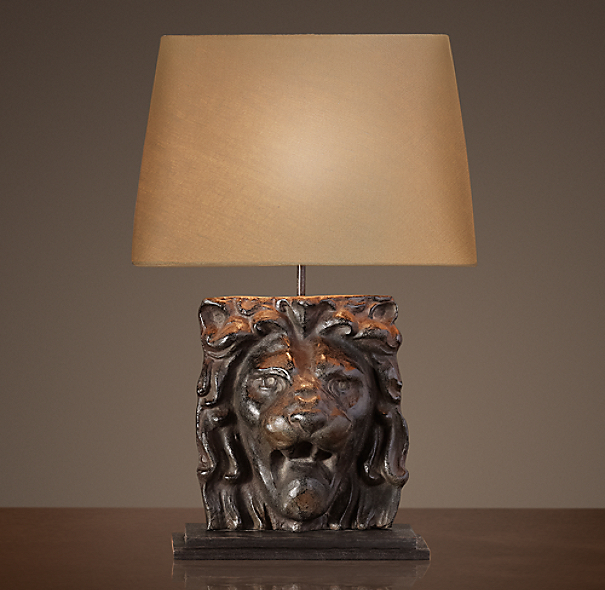 Lion S Head Table Lamp