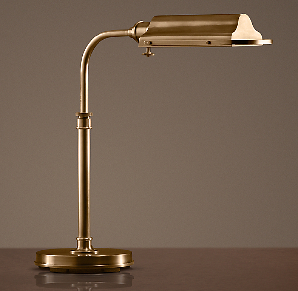 Writer's Task Table Lamp Antique Brass