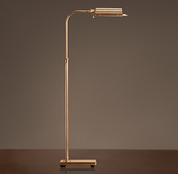 Writer's Task Floor Lamp Antique Brass