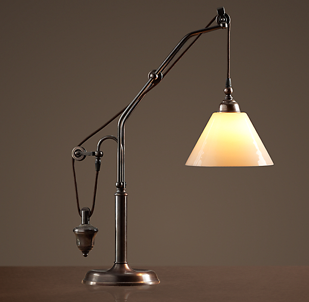 Counterweight task table lamp - Restoration hardware lamps table ...