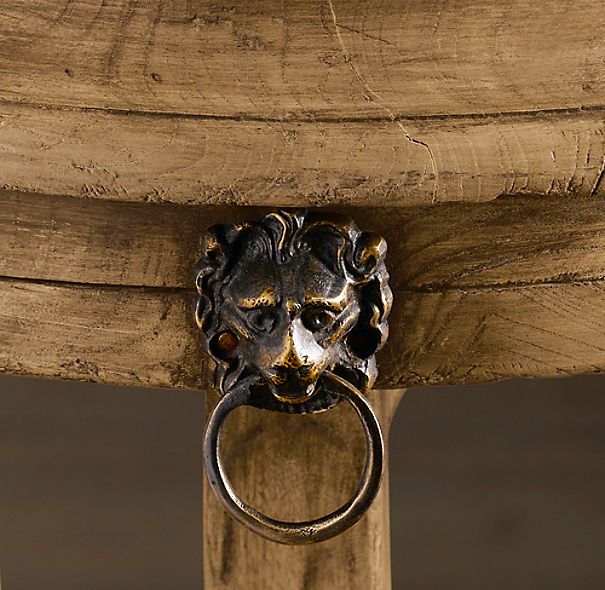 18th C. Lion's Head Side Table
