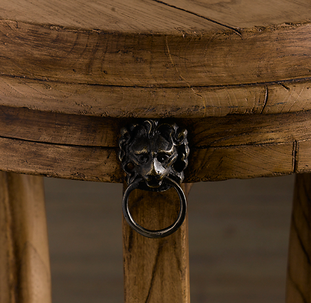 "21"" 18th C. Lion's Head Side Table"