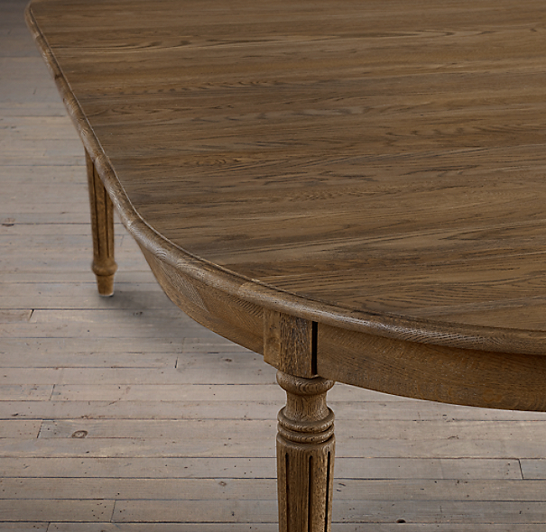 Vintage French Fluted-Leg Dining Table