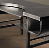 "74"" French Factory Metal Desk Gun Metal"