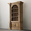 Palladian Salvaged Pine Library Bookcase Single