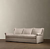 8' Belgian Wingback Upholstered Sofa