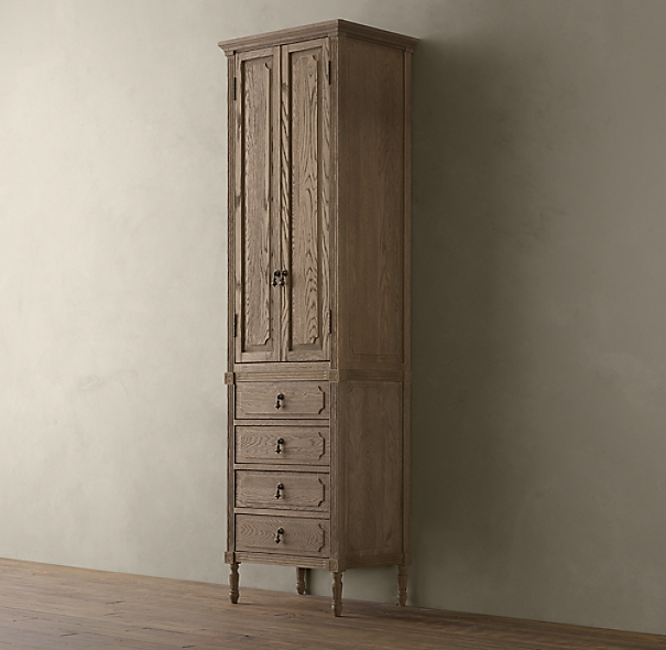 Louis XVI Tall Bath Cabinet