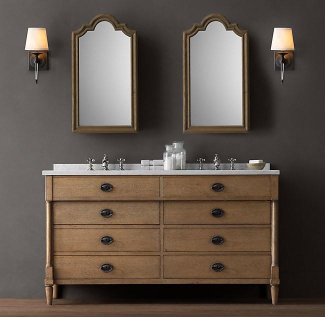Directoire Double Vanity Sink