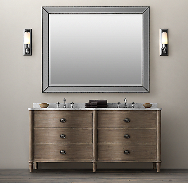empire rosette double vanity sink
