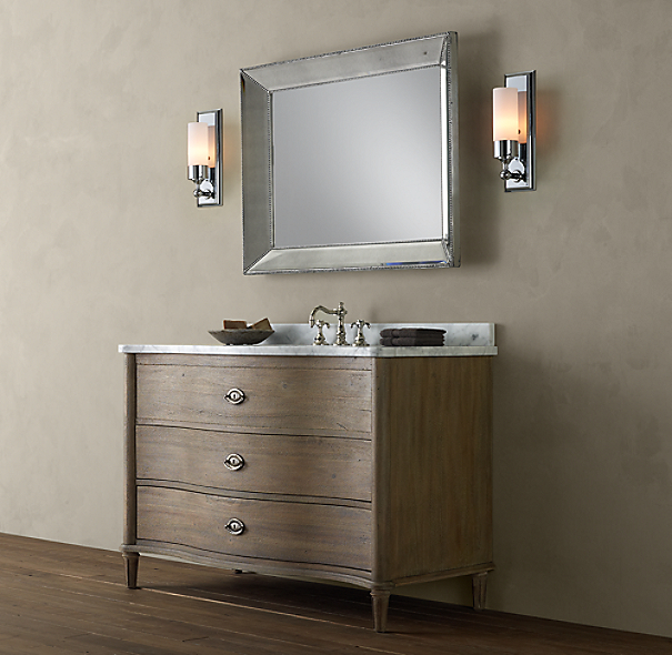 Empire Rosette Extra-Wide Single Vanity Sink