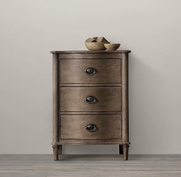 Empire Rosette Short Bath Cabinet
