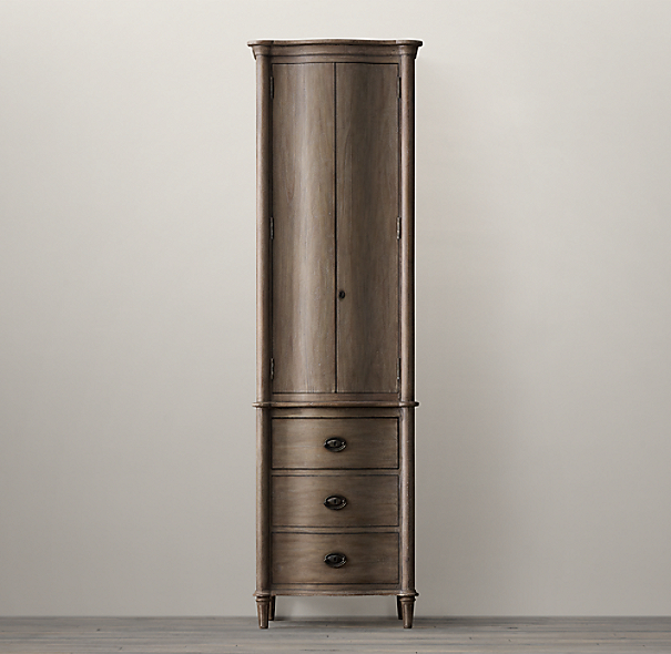 Empire Rosette Tall Bath Cabinet