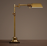 Library Task Table Lamp Antique Brass