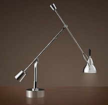 Counterpoise Task Table Lamp Polished Nickel