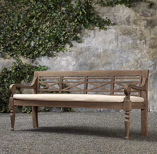 19th C. Chippendale Bench Cushion