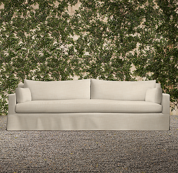 "108"" Belgian Track Arm Outdoor Sofa"