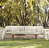 "84"" Belgian Track Arm Outdoor Sofa"