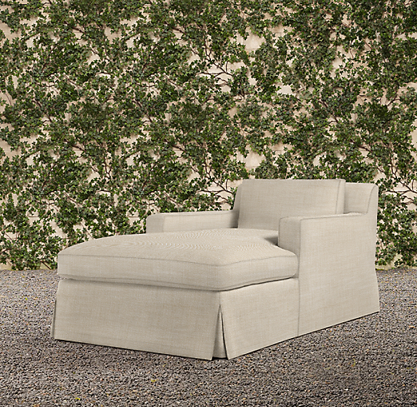 Belgian Track Arm Outdoor Chaise